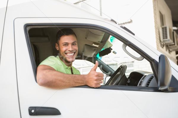 Uśmiechnięty człowiek jazdy van Zdjęcia stock © wavebreak_media