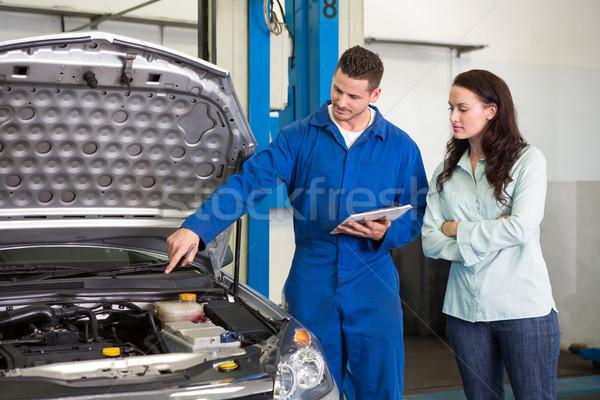 Mechaniker Kunden Problem Auto Autoreparatur Stock foto © wavebreak_media