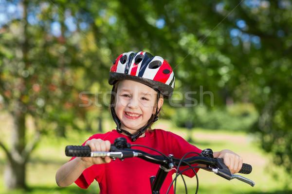 Felice piccolo ragazzo bike primavera Foto d'archivio © wavebreak_media