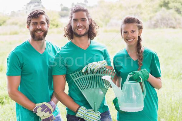 Gelukkig vrienden tuinieren gemeenschap vrouw Stockfoto © wavebreak_media