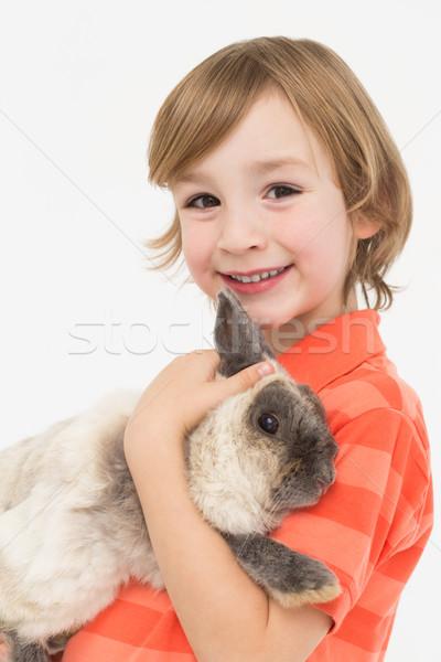 портрет пушистый кролик белый Сток-фото © wavebreak_media