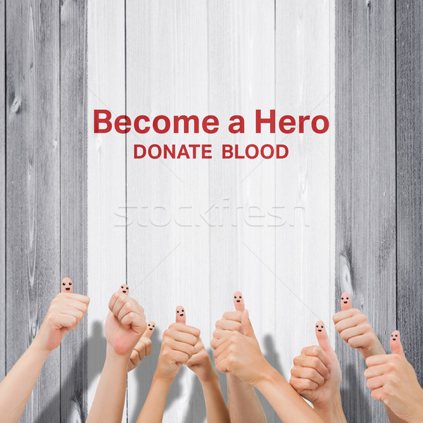 Composite image of blood donation Stock photo © wavebreak_media