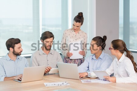 Casual business team clapping at presentation Stock photo © wavebreak_media