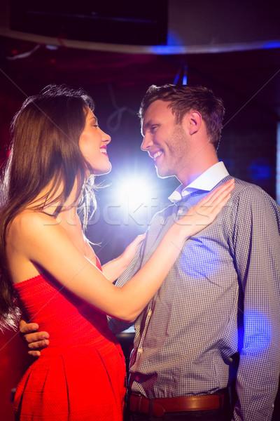 Aranyos pár lassú tánc együtt éjszakai klub Stock fotó © wavebreak_media