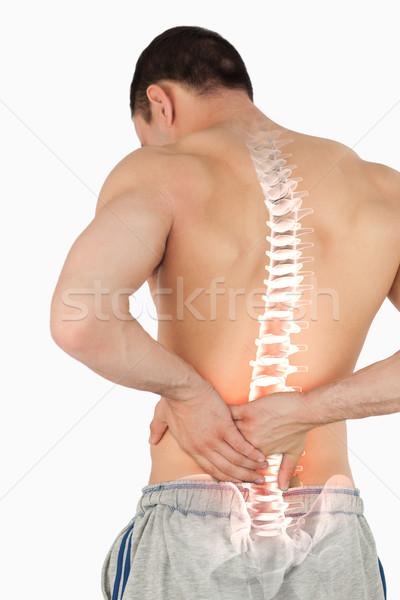 Colonna vertebrale uomo mal di schiena composito digitale mano corpo Foto d'archivio © wavebreak_media