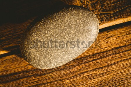 Pebble on a wooden table Stock photo © wavebreak_media