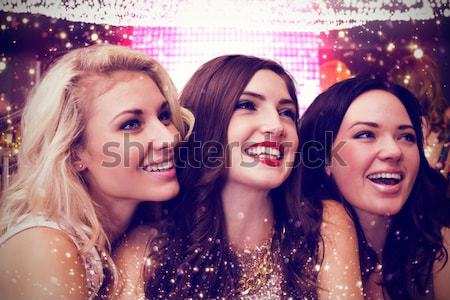 összetett kép elegáns barátok tánc mosolyog Stock fotó © wavebreak_media