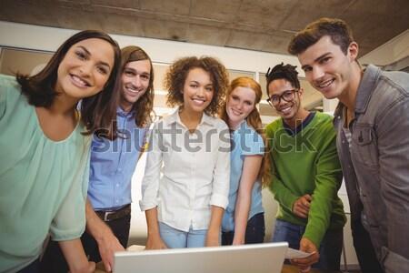 összetett kép portré fiatal kollégák iroda Stock fotó © wavebreak_media