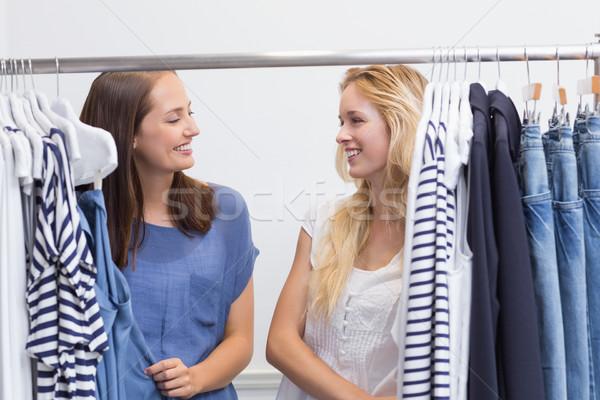幸せ 友達 2 女性 笑みを浮かべて ストックフォト © wavebreak_media