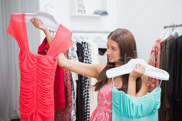 Donna difficoltà abito boutique shopping Foto d'archivio © wavebreak_media