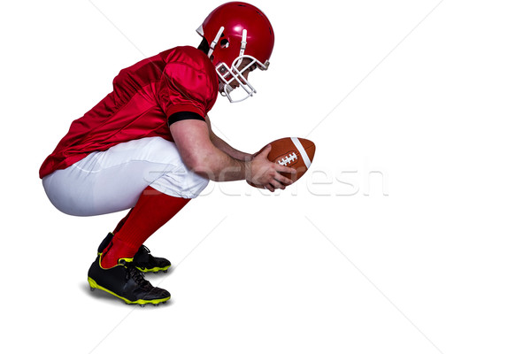 Fußballspieler angreifen Haltung Profil Ansicht Stock foto © wavebreak_media