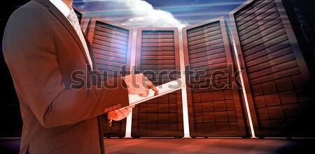 Moe speler vergadering bank muur Stockfoto © wavebreak_media