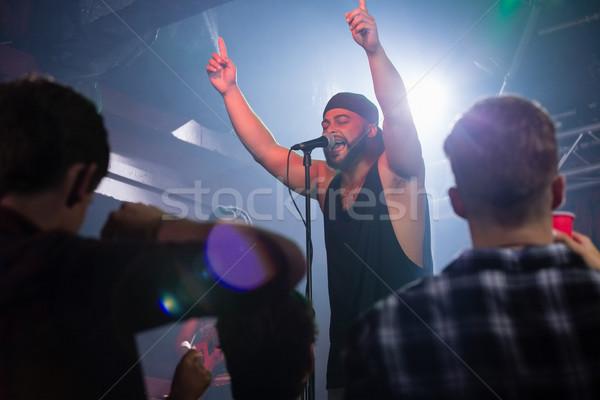 şarkıcı sahne gece kulübü müzik adam Stok fotoğraf © wavebreak_media