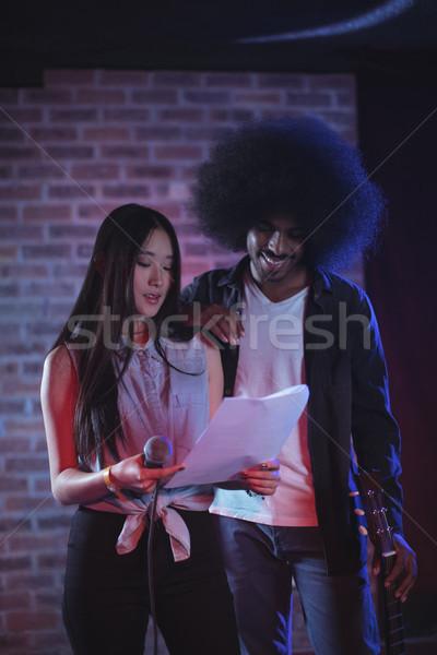歌手 ギタリスト 読む 論文 ナイトクラブ ストックフォト © wavebreak_media
