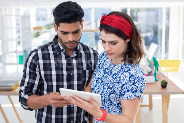 Couple using digital tablet in the office Stock photo © wavebreak_media