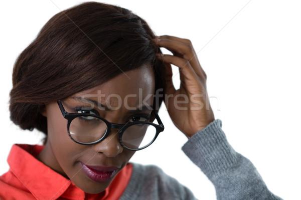 путать очки белый Сток-фото © wavebreak_media