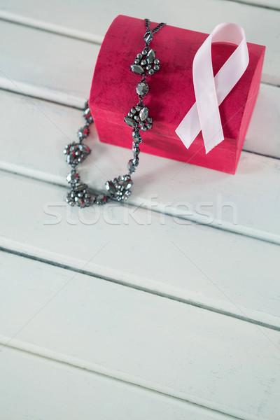 Vue rose cancer du sein conscience ruban Photo stock © wavebreak_media