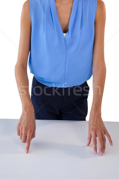 Işkadını tablo ayakta beyaz Stok fotoğraf © wavebreak_media