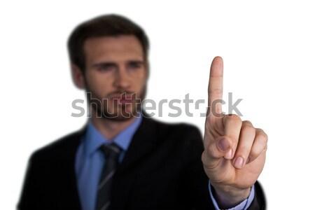 Közelkép üzletember megérint mutatóujj láthatatlan interfész Stock fotó © wavebreak_media