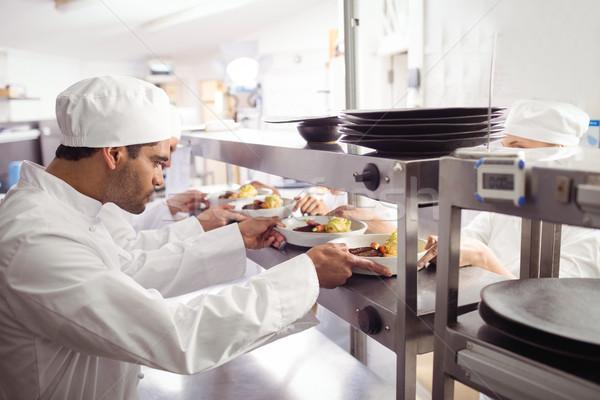 Повара готовый продовольствие официант порядка станция Сток-фото © wavebreak_media