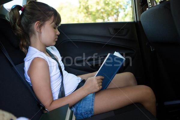чтение книга назад сиденье автомобилей Сток-фото © wavebreak_media