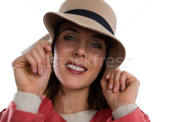 Ritratto Hat bianco Foto d'archivio © wavebreak_media