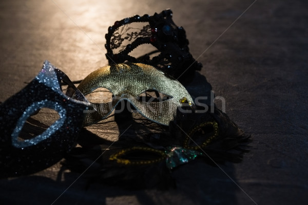 Close-up of masquerade masks on stage Stock photo © wavebreak_media