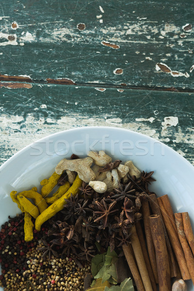 Various spices arranged in plate Stock photo © wavebreak_media