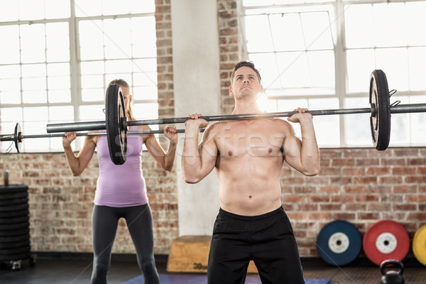 Two fit people working out at crossfit session Stock photo © wavebreak_media