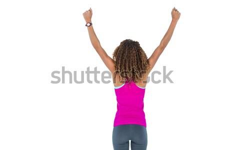 вид сзади белый женщину Сток-фото © wavebreak_media