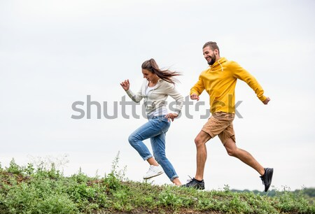 Couple jogging on a hike Stock photo © wavebreak_media