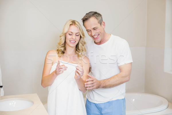 Couple waiting for a pregnancy test results Stock photo © wavebreak_media