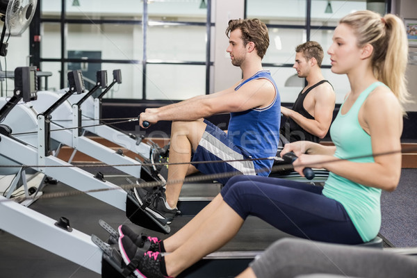 Uygun insanlar çizim makine spor salonu kadın Stok fotoğraf © wavebreak_media