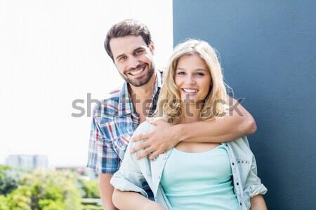 Mutlu portre beyaz adam Stok fotoğraf © wavebreak_media