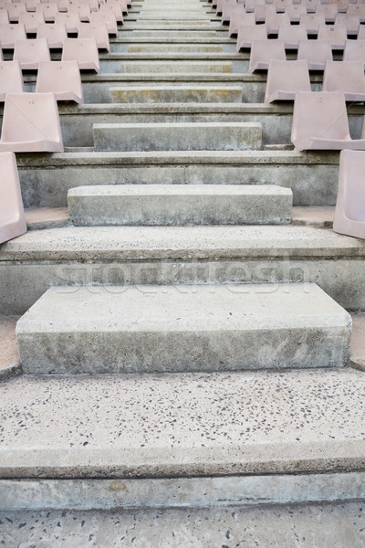 Lege stappen stadion rij voetbal patroon Stockfoto © wavebreak_media