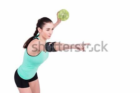 женщины спортсмена локоть гандбол белый Сток-фото © wavebreak_media
