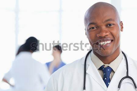 Portre erkek doktor dosya koridor hastane Stok fotoğraf © wavebreak_media