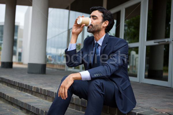 ビジネスマン 飲料 コーヒー 使い捨て カップ ビジネス ストックフォト © wavebreak_media
