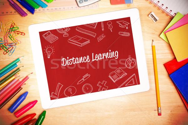 距離 学習 学生 デスク 木材 ストックフォト © wavebreak_media