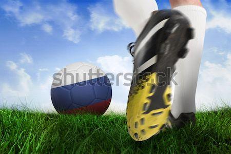 Fußballspieler Ball digital erzeugt Stock foto © wavebreak_media