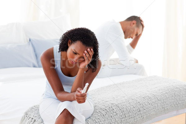 Upset couple finding out results of a pregnancy test  Stock photo © wavebreak_media
