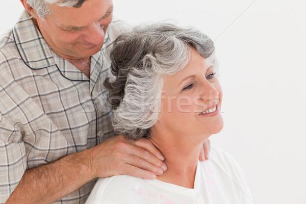 Emeryturę człowiek masażu żona domu kobieta Zdjęcia stock © wavebreak_media