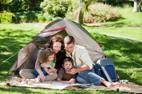 Joyful family camping Stock photo © wavebreak_media