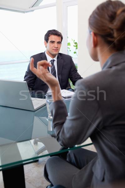 Portré fiatal üzleti csapat megbeszélés iroda üzlet Stock fotó © wavebreak_media