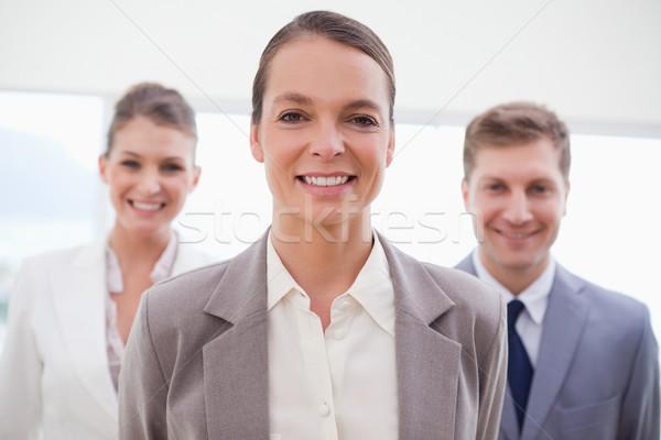 ビジネス コンサルタント 立って チーム 後ろ 会議 ストックフォト © wavebreak_media