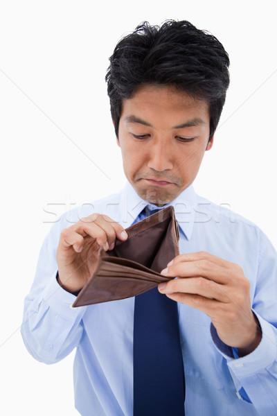 Portret triest zakenman tonen lege portemonnee Stockfoto © wavebreak_media