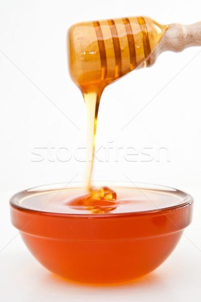 Miele ciotola bianco alimentare sfondo dolce Foto d'archivio © wavebreak_media