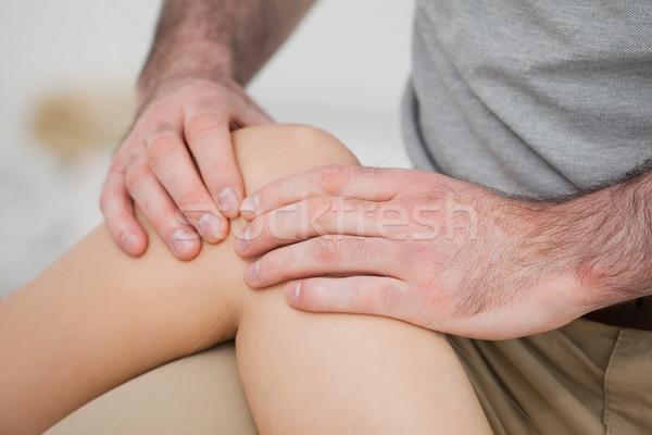 ストックフォト: クローズアップ · 膝 · ルーム · 医師 · 医療