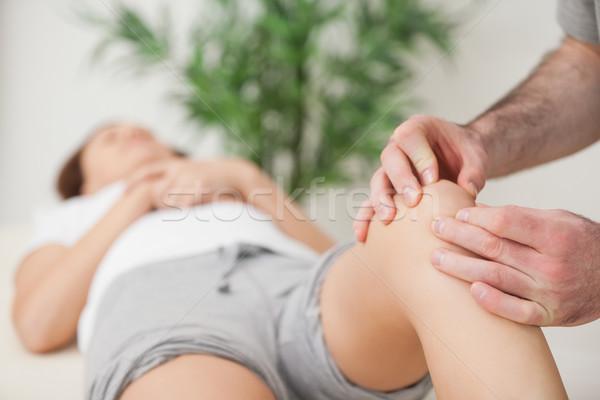 Rodilla mujer médico habitación médicos salud Foto stock © wavebreak_media
