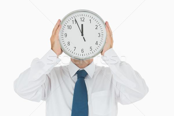 Empresário parede relógio pessoas de negócios Foto stock © wavebreak_media